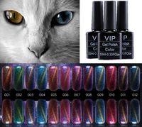 Wholesale Star Colors Glue - Wholesale- 12 Colors Gel Nail Polish Vernis A Ongle 10ml Chameleon Mood Change Star Nail Oil CAT Gelpolish 3D Phantom Gel Lak Glue
