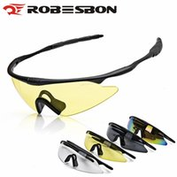Wholesale Paintball Pcs - ROBESBON X100Bicycle Bike Cycling Glasses Men Women Paintball Airsoft Outdoor Sports Windproof Sunglasses Military Tacts Goggles