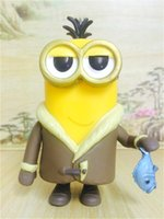 Wholesale Wholesale Mini Despicable Figures - 161154 The Despicable Me Kevin Minions Funko POP Marvel Comics PVC Action Figure Bored Silly Boxed 12CM For child Hot Sales New Arrival
