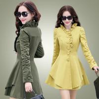 Wholesale Wool Overcoat Design Women - Ladies fashion long overcoat,women's stylish 2016 coats,free shipping slim fit long woolen design women's wool coat outerwear