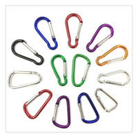 Wholesale Climbing Carabiners Wholesale - Outdoor Carabiner Durable Climbing Hook Aluminum Camping OutdoorSport Accessory Carabiner Clip Key Chain Camp Snap Clip Hook Keychain