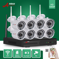 ANRAN sorveglianza CCTV plug and play HD 8CH WIFI NVR 2MP esterno impermeabile 36 IR 1080P sistema di sicurezza IP Camera Camera di sicurezza