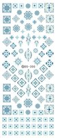 Wholesale Fingernail Decals Stickers - Wholesale- DS300 2016 New Water Transfer Stickers for Nails Beauty Harajuku Blue Totem Decoration Nail Wraps Sticker Fingernails Decals