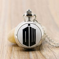 Wholesale Sliver Chain Watch - Wholesale-2016 New Arrival Sliver Color Doctor Who Extension Quartz Pocket Watch With Chain Necklace