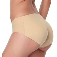 Wholesale Bum Pad Hip - New Women Soft Seamless Sexy Panty Knickers Buttock Backside Silicone Bum Padded Butt Enhancer Hip Up Underwear