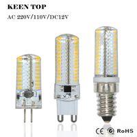 Wholesale Led E14 8w Corn - High Power LED E14 G4 G9 LED Corn Bulb SMD3014 3W 6W 8W 9W 12W AC 110V 220V DC12V led lightings rystal bulbs
