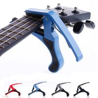 Wholesale Quick Change Capo - Wholesale- 1Pc Folk Acoustic Electric Guitar Capo Trigger Change Quick Clamp Key New