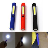 antorcha de batería de mano led al por mayor-Linterna LED COB LED Mini Pluma Luz de inspección de trabajo multifunción Mantenimiento Lámpara de antorcha manual con imán Batería 3A Operatio