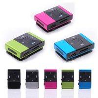 Wholesale Digital Sports Mp3 Player - HOT SALE fashion Mini USB Clip Digital Mp3 Music Player Support 8GB SD TF Card Slick stylish design Sport Compact mp3 player