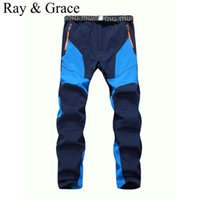 Wholesale softshell pants sport resale online - Winter Men Warm Softshell Fleece Pants Skiing Snowboard Outdoor Sport Hiking Trousers Grey Camping Climbing Breath Snow Pants