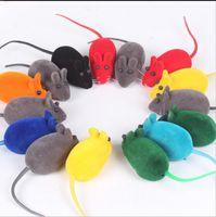 ingrosso piccoli giocattoli dei topi-Eco-Friendly Pet piccolo giocattolo del mouse Rumore Squeak Rat Giocando regalo per Kitten Cat Giocare 6 * 3 * 2.5cm