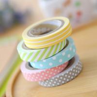 Wholesale Masking Tape Washi - Wholesale- 2016 JBFISH 5 pcs masking 5m washi tape album scrapbook Decoration sticky Stationery school supply paper office adhesive tape 1
