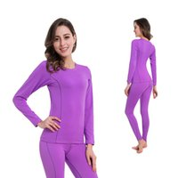 Wholesale Thermal Underwear For Women L - Wholesale- Women Thermal Underwear Women Long Johns Women Quick Dry POLARTEC Ski Jacket and Pants For Skiing Riding Climbing Cycling