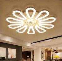 Wholesale led lustre - LED chandelier lighting Modern led ceiling light fixtures acrylic lampshade lustre dimmable with control AC85-260V lamp