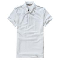 Wholesale Men Silk Short Sleeve Shirt - 2017 Summer Men Brand Polo Very comfortable Silk Summer Shirt 4 Colors Free Shipping S-XXL