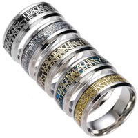 Wholesale Internet Games - Mens Womens Titanium Steel Polished Wedding Ring Game Internet Cafe Gift Engagement Band Rings 5 ​​Colour Select USA Size (From 6 # To 13 #)