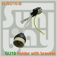 Wholesale Downlight Holders - Free shipping hot selling high quality GU10 LED Downlight Lamp Holder Socket Connector Adaptor Fixture with black block
