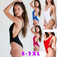 Wholesale Thong Bikini Fashions - fashion Style Sexy Monokini Swimsuit One Piece Swimwear Fashion Bandage Bodysuit Backless Thong Bottom Bathing Suits 2017 new