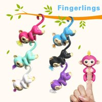 Wholesale Retail Package 15 Dhl - Free DHL Fingerlings Baby Monkey Finger Toys Interactive monkey Electronic Smart Finger Monkey With Retail Packaged ABS+PVC