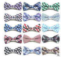 Wholesale Cute Kids Boys - Cute Baby Boys Ties Plaid Bowknot Children Accessories Party Wear Fashion Classical Check Kids Tie Bow 7586
