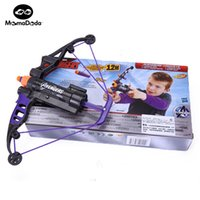 Wholesale Play Toy Gun - Baby Power Orbeez Toys Boy Gun Weapons Avengers Hawkeye Longshot Bow And Arrow Ammo Toy Gift For Children Kids Play Outdoor