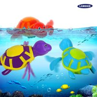 Wholesale Toys For Kids Crawling - 2017 Hot Wind Up Water Toy New Diver Bath Toy Swimming Floating Turtle Swim and Crawl Wind Up Toys Pool Bath for Kids