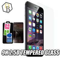 Wholesale view screen - For samsung s7 iphone 7 plus tempered glass High quality screen protector clear view temper glass 9H 0.22mm 2.5D anti-cratch front