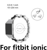 metall kettenuhren großhandel-NEW Kettenstil für Fitbit Ionic Edelstahlband Smart Watch Band Metallersatzband für Fitbit Ionic