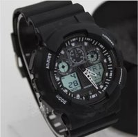 Wholesale Sport Style Led Digital - Fashion sports style watches, LED wristwatch with black,blue, yellow,white,red etc 10 colors quite Hot sale