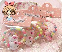 ingrosso braccialetto dell'anello del bambino-Set di accessori per gioielli coreani per bambini Set di anelli per bracciale in acrilico per bambini per bambini Set regalo di design per gattino