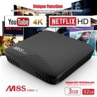 Barato Vídeo 3d Android-3GB 32GB Android TV Box Novo Amlogic S912 MECOOL M8S PRO Bluetooth 4.1 Dual Band WiFi Android 7.1 TV Box Suporte 4K e Vídeo 3D