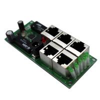 Wholesale Full Duplex Ethernet - OEM original realtek chip solution small size 5 port 10 100mbps fast ethernet switch pcb board pcba module best for system data exchange