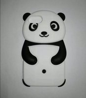 Cartoon Silicone Case para Apple iPhone 7 7 Plus 6S 6 Plus 5 4 Touch 5 6 3D Cute Panda Soft animal tampa