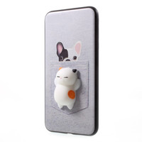 Wholesale 3d phone card online - 3D Cat Squishy Phone Bag Case Capa Soft Squeeze Toys Back Cover Stress Relieve Shell