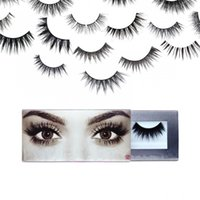 Wholesale Type Lashes - Hot Selling New False Eyelashes 20 types boxed 2017 Best Handmade Eye Lash Extensions Natural Synthetic Eyelash Fibers Makeup Free Shipping