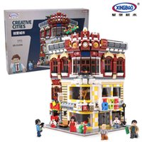 Wholesale Toy City Buildings - CREATIVE MOC CITY SERIES THE TOYS AND BOOKSTORE--XINGBAO BUILDING BLOCK SET BRICK TOYS 01006