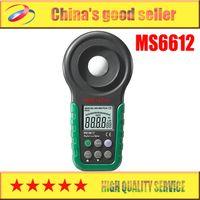 Wholesale Digital Lux Light Meter - Wholesale- Mastech MS6612 Digital Luxmeter Illuminometer Light Meter Foot Candle Auto Range Peak 200000 Lux
