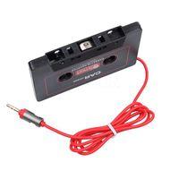 leitor de mp3 adaptador de áudio do carro venda por atacado-Universal Adaptador Aux Cassette Audio Car Cassette Player Tape Converter 3.5mm Jack Plug para o telefone MP3 CD Player Smart Phone