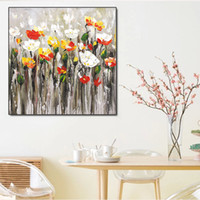 Wholesale Oil Paintings Nudes - Modern Floral Decorations Oil Painting on Canvas Home Wall Art Picture for home Living Room Decoration