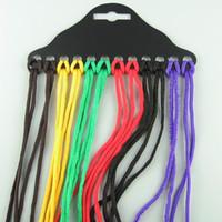 Wholesale nylon cord rope resale online - Nylon Sunglasses Chain And Elastic Kids Glasses Rope Neck Cord Strap Glasses String Lanyard Adjustable