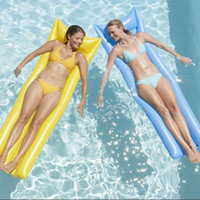 Wholesale Floating Pool Mats - Summer Inflatable Pool Float Swimming Floating Bed Water Hammock Recreation Beach Mat Mattress Lounge Bed Chair Pool Free Inflator