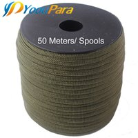 Wholesale Purchase Types - 252 Colors 50 meters Paracord 550 Paracorde Rope Cuerda Escalada Mil Spec Type III 7Strand Parachute Outdoor Campling Survival Purchases