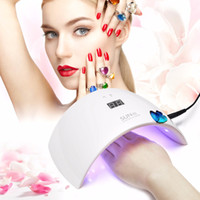 SUN9s 24W LED UV Lâmpada Nail Art Solan Ferramenta UV Lâmpada LED Nail Dryer Uail Polish Gel Cura White Light Manicure Machine