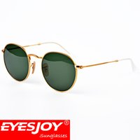 Wholesale Wholesale Goggles - Retro Round Frame brand Sunglasses for women mens Metal Frame designer sunglasses with Box and Accessories( 14 Style )