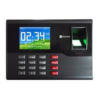 Wholesale ip electronics - Wholesale- A-C121 TCP IP Biometric Fingerprint Time Clock Recorder Attendance Employee Electronic Punch Reader Machine Realand with 2.8''