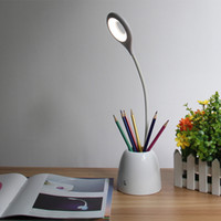 Wholesale Usb Pen Holder - Creative Touch Dimmable Desk Led Lamp with pen container holder USB Table Night Light Gift For Children Teacher Students