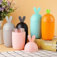 Wholesale Water Proof Rabbit - DUNFA Cartoon Rabbit Shape Glass Water Bottle Kids Cute Silicone Sleeve Children Leak-proof Drinking Tumbler