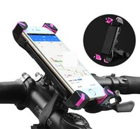 Titular do telefone Universal Electronic Car Bicicleta Bike Handlebar Clip Stand Mount Bracket para iPhone 3.5-6.5 inch Phones Holders 360 Rotate