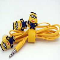 Wholesale Despicable Cell - 2017 Cheapest Earphones Cute Hello Kitty Despicable me Earphone Cartoon Headset Sports Portable Earphone For All Phone For Ipod Mp3 Mp4