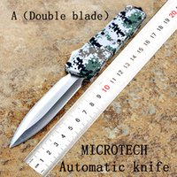 Wholesale Multi Function Knifes - High quality ! Microtech outdoor sports multi-function automatic knife D2 59 HRC high hardness camping survival Tactical hunting knife